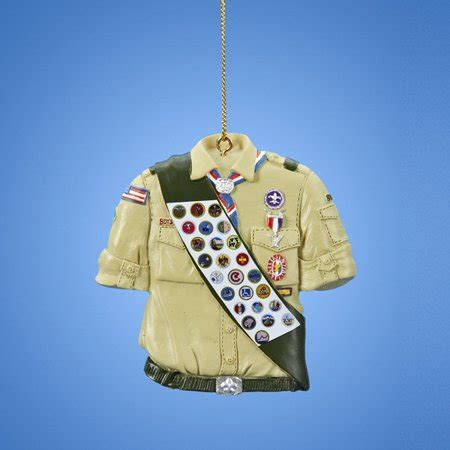 what to get an eagle scout for christmas pack of 12 3 quot h boy scouts of america eagle scout shirt with merit badge sash ornaments