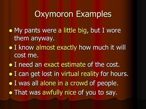 exle of oxymoron in romeo and juliet what is figurative language ppt