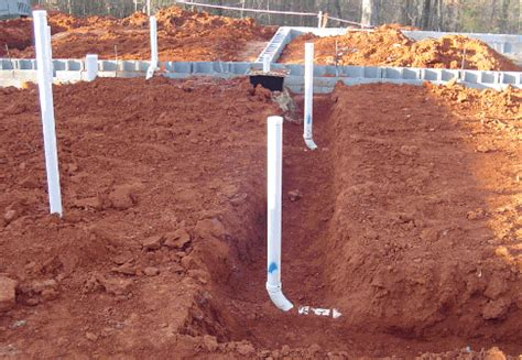 Concrete Plumbing by Checking The Plumbing Layout In A Concrete Slab Before It