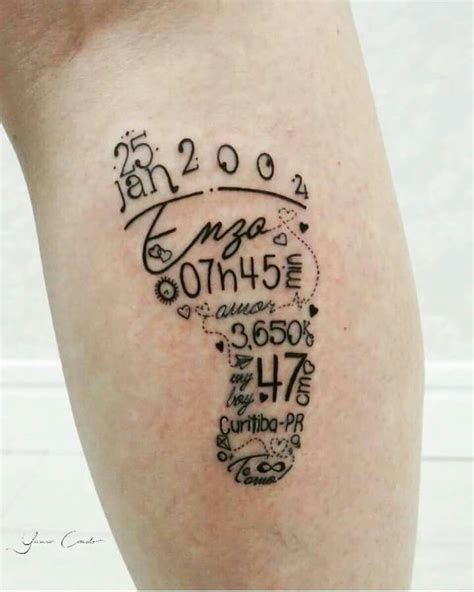 tattoos for moms with kids names best 25 baby tattoos ideas on baby footprint