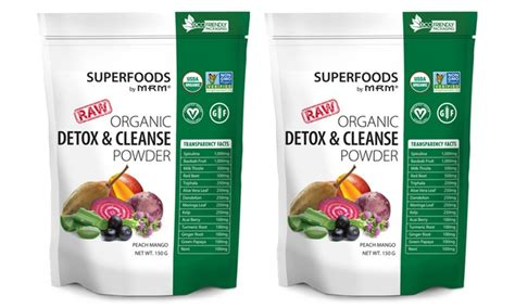 Organic Vegan Detox Cleanse by Up To 42 On Mrm Detox Powder Supplement Groupon Goods