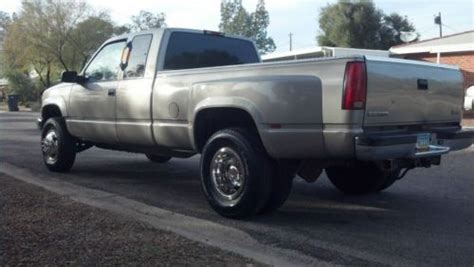 sell used 1998 gmc chevy 3500 sierra dually 4x4 truck extended cab excellent condition in