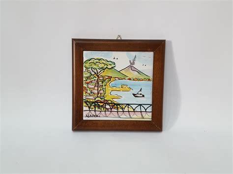 quadro cornice quadro con cornice arte in ceramica vietrese