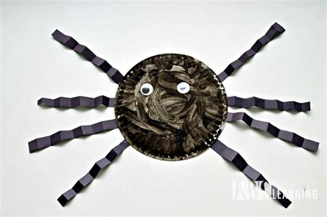 Paper Plate Spider Craft - paper plate spider craft abc creative learning