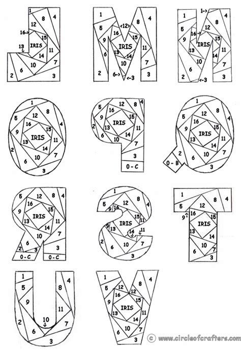 printable patterned letters free printable iris folding patterns