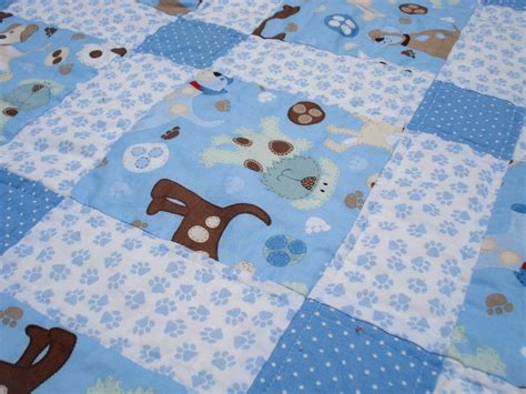 Baby Boy Quilt Fabric by Two Tiny Birds A Quilt For Baby Boy