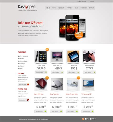 one page ecommerce template best 35 e commerce theme of 2012 updated