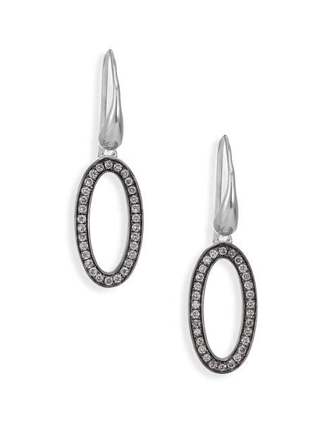 sterling silver oval drop earrings ippolita stella sterling silver oval drop
