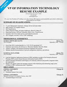 vp of information technology resume example http