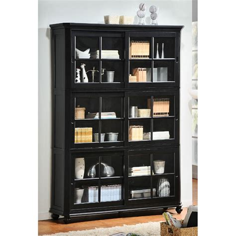 black bookcase with glass doors bookcases ideas bookcases with doors free shipping