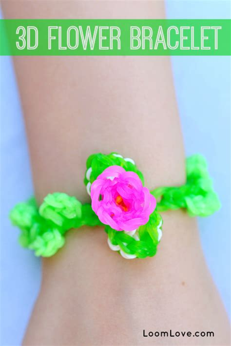 how to make flower bracelets with how to make a 3d flower bracelet on your rainbow loom