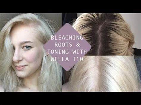 toner for bleached blonde hair how to bleach roots tone with wella t10 at home