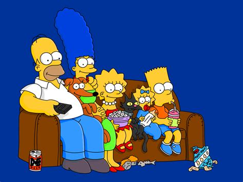 the simpsons sitting on the couch descriptions