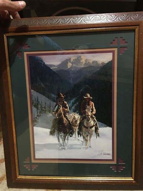 home interior gifts cowboys riding in snow picture gary