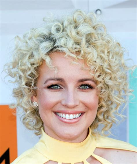 casual shaggy hairstyles done with curlingwands cam short curly casual shag hairstyle light blonde