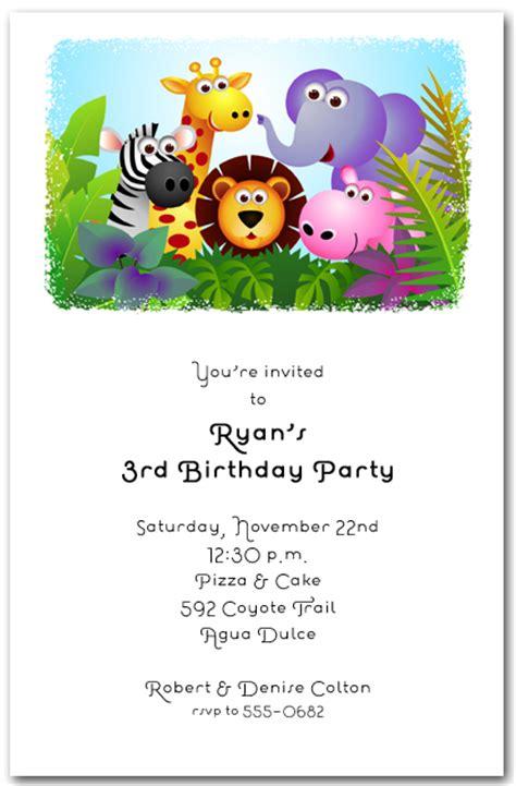 free printable zoo animal birthday invitations fun in the jungle birthday invitations safari birthday