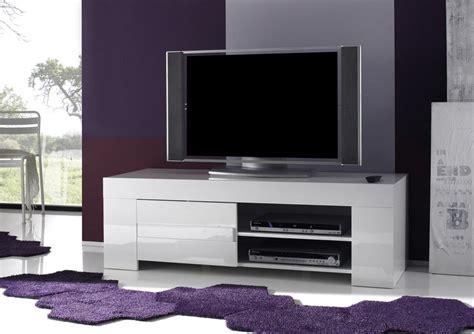 meuble tv hifi blanc laqu 233 design esmeralda
