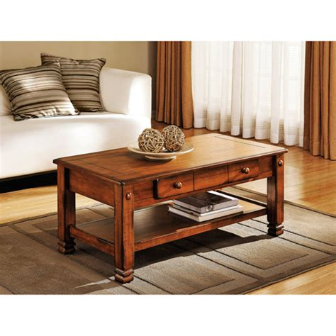 summit mountain coffee table rustic oak walmart