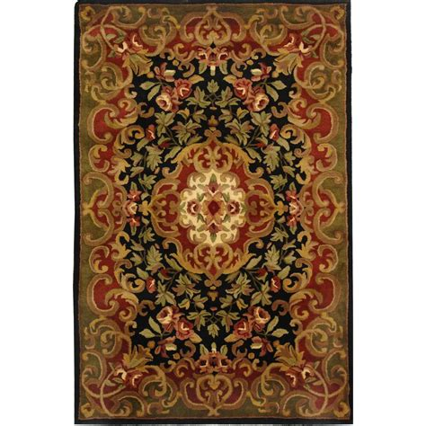 black and green area rugs safavieh classic black green 4 ft x 6 ft area rug cl234d 4 the home depot