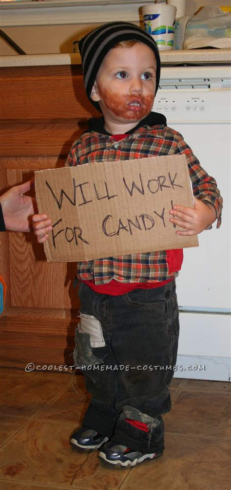 funny  easy toddler costume idea  work  candy