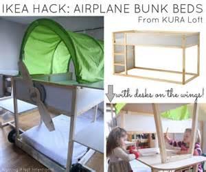 ikea bunk beds hack ikea bed hack kura loft turned into an airplane bunk bed
