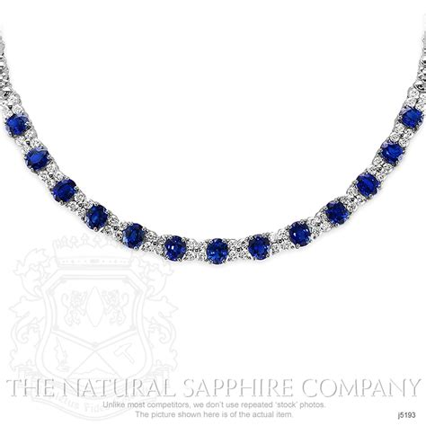 Blue Sapphire 11 11 Ct blue sapphire necklace oval 11 03 ct 18k white gold