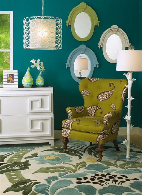 lime green and turquoise bedroom dark teal walls accented by lime green and white jewel