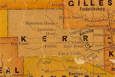 map of kerr county texas kerrville texas kerrville hotels