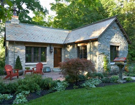 stone cottage in the woods wood and stone house exteriors a small stone lake house in minnesota