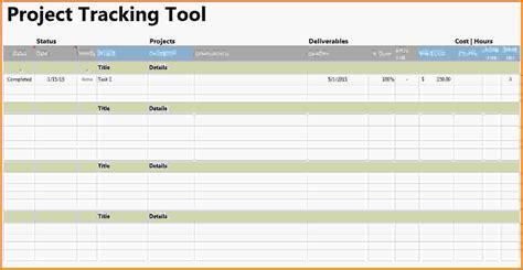 project tracking template excel project tracking template