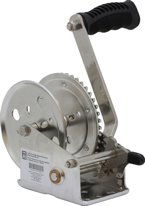 Sellery Winch 1200 Lbs 1 200 lb single speed stainless steel winch princess auto
