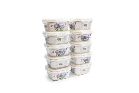 Tupperware Blossom Collection Wadah Saji blossom collection hydrangea range medium tupperware box