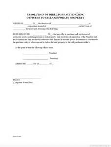 free corporate resolution to sell property0001 form