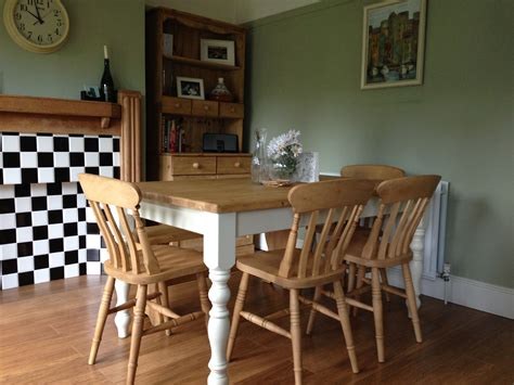 Farmhouse Kitchen Table Sets Custom Made Table Pinefarmhousetable Co Uk