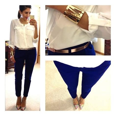 business casual outfits on pinterest hello gorgeous threads blue pants metallic