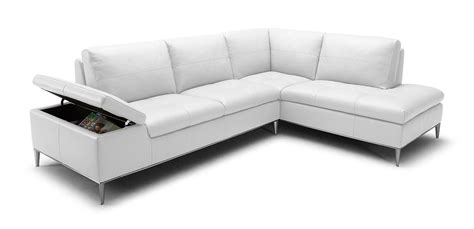 White Sectional Sofa With Chaise Divani Casa Gardenia Modern White Sectional Sofa With Chaise
