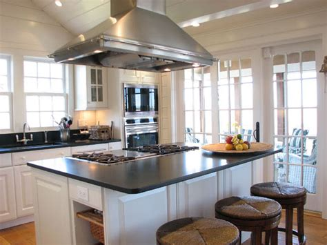 kitchen island designs with cooktop and seating burung club