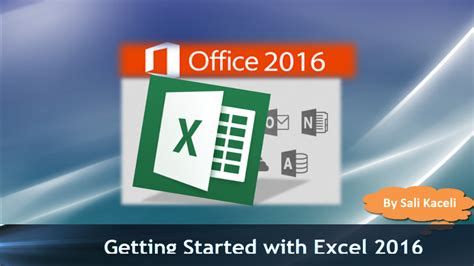 excel tutorial by sali kaceli getting started with excel 2016 part 1 for the absolute