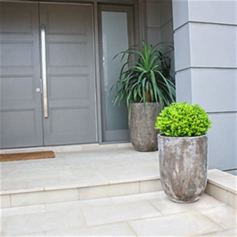 Lightweight Concrete Planters by Grand Entrance Iota Lightweight Concrete Planter