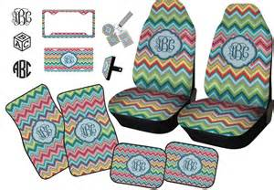 Seat Covers Monogrammed Retro Chevron Monogram Car Seat Covers Set Of Two