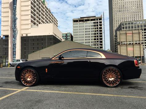 rose gold rolls royce lexani forged wheels lc monza in custom rose gold with