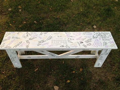 book bench outdoor bench wedding guest book love make me wanna