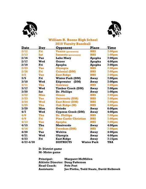baseball schedule template free venice high school baseball schedule high school baseball