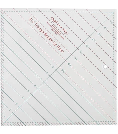 Quilt In A Day Ruler by Quilt In A Day 9 1 2 Triangle Square Up Ruler Jo