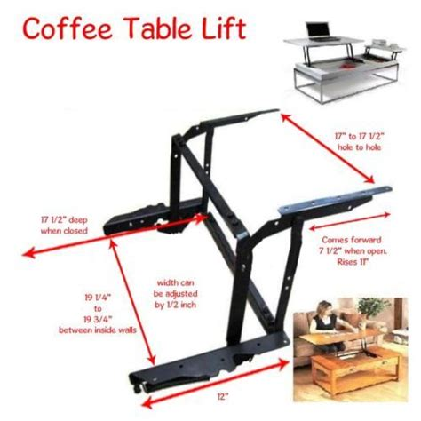 Coffee Table Lift Top Hardware Details About Lift Top Coffee Table Diy Mechanism Hardware Lift Up Furniture Hinge B