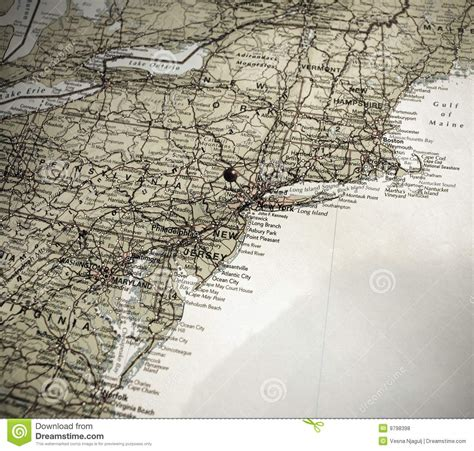map of the east coast of the usa a map of the east coast of america push pin in ny royalty