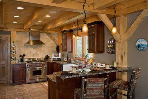 A Frame Kitchen Ideas Woodhouse Post And Beam Kitchens