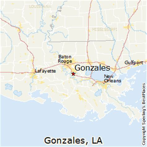 louisiana map gonzales best places to live in gonzales louisiana