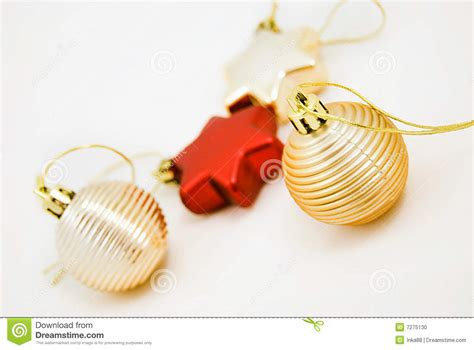 different christmas ornaments stock photo image 7275130