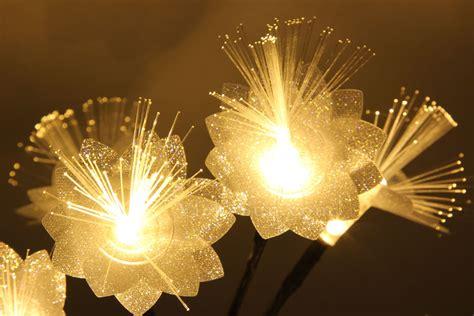 battery operated fiber optic lights 35cm battery operated wedding fiber optic flower warm